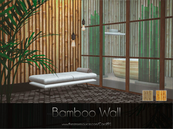 The Sims Resource: Bamboo Wall by Caroll91