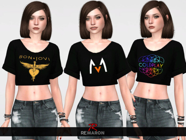 The Sims Resource: Band Shirt 01 by remaron