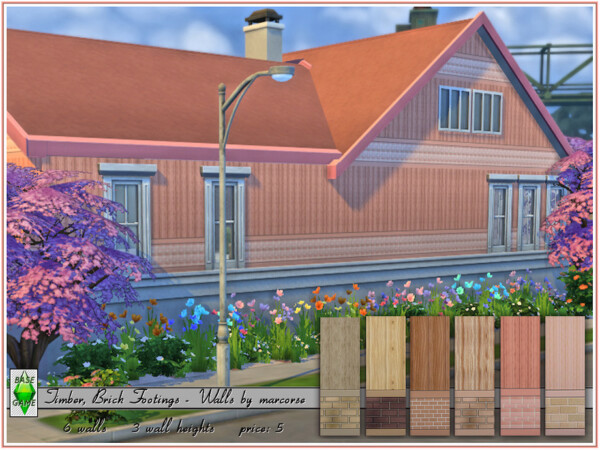 The Sims Resource: Timber, Brick Footings   Walls by marcorse
