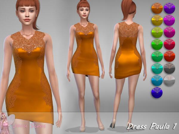 The Sims Resource: Dress Paula 1 by Jaru Sims