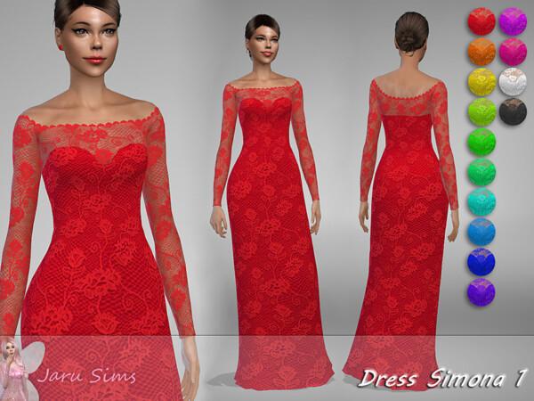 The Sims Resource: Dress Simona 1 by Jaru Sims