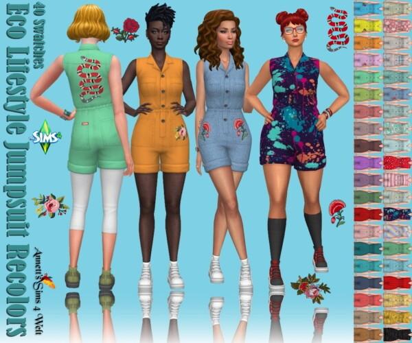 Annett`s Sims 4 Welt: Eco Lifestyle Jumpsuit Recolors