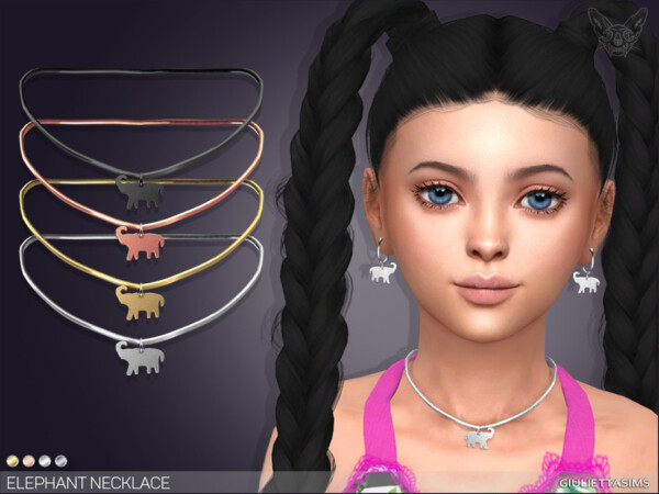 The Sims Resource: Elephant Necklace For Kids  by feyona