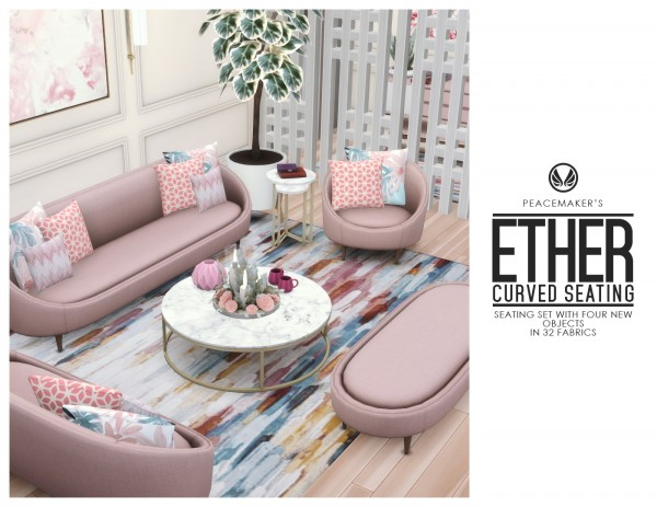 Simsational designs: Ether Curved Seating
