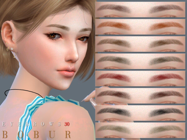 The Sims Resource: Eyebrows 30 by Bobur