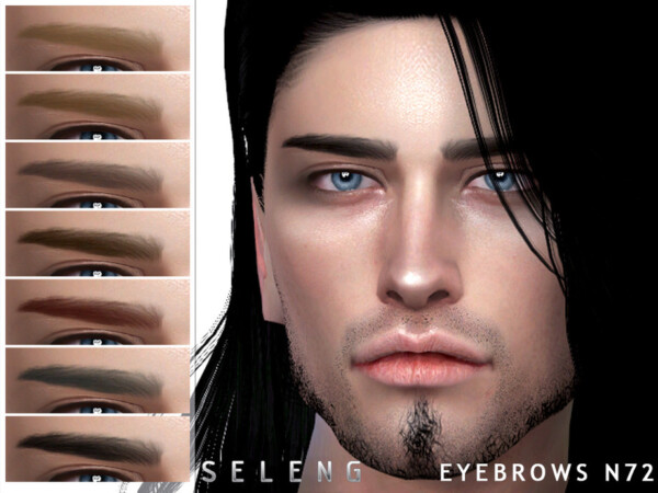 The Sims Resource: Eyebrows N72 by Seleng