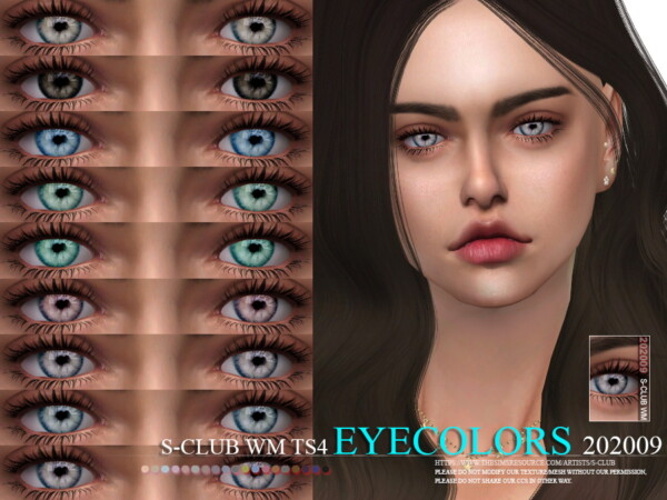 The Sims Resource: Eyecolors 202009 by S Club