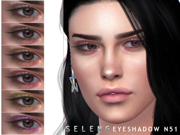 The Sims Resource: Eyeshadow N51 by Seleng