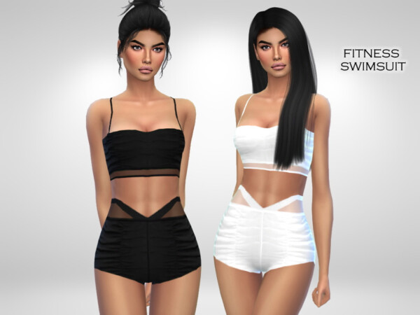 The Sims Resource: Fitness Swimsuit by Puresim