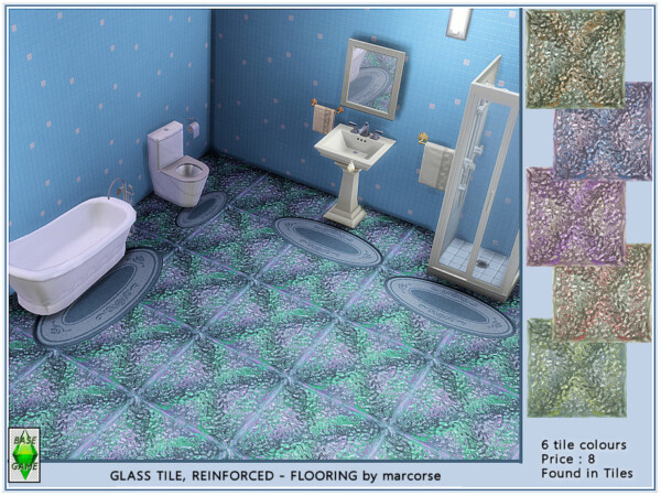 The Sims Resource: Glass Tile Reinforced by marcose