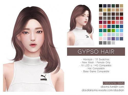 Obsidian Sims: Gypso Hair