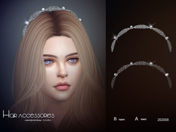The Sims Resource: Hair Accessories 202008 by S Club