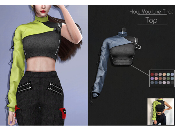 The Sims Resource: How You Like That Top by Lisaminicatsims
