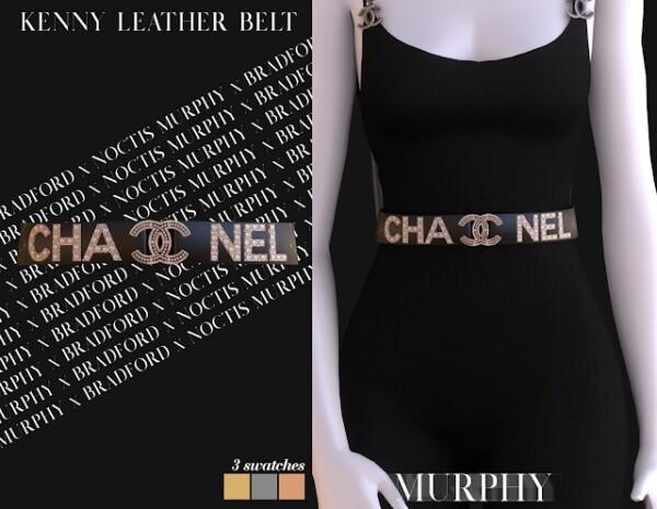 Murphy: Kenny Leather Belt by Silence Bradford