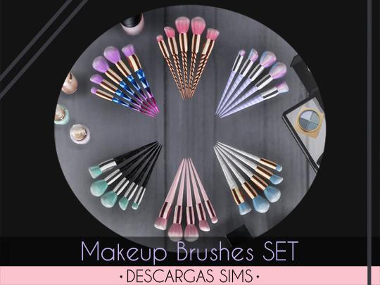 Descargas Sims: Makeup Brushes SET