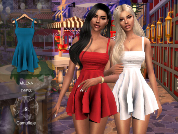 The Sims Resource: Milena Dress by Camuflage