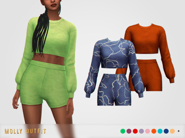 The Sims Resource: Molly Outfit by pixelette