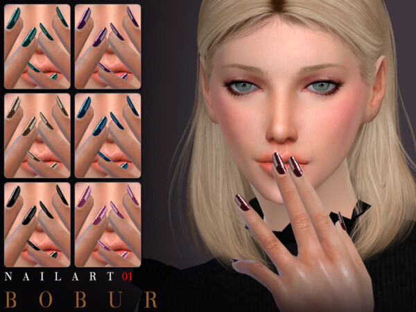 The Sims Resource: Nails 01 by Bobur3