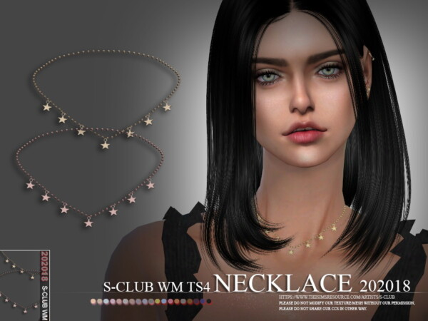 The Sims Resource: Necklace 202018 by S Club