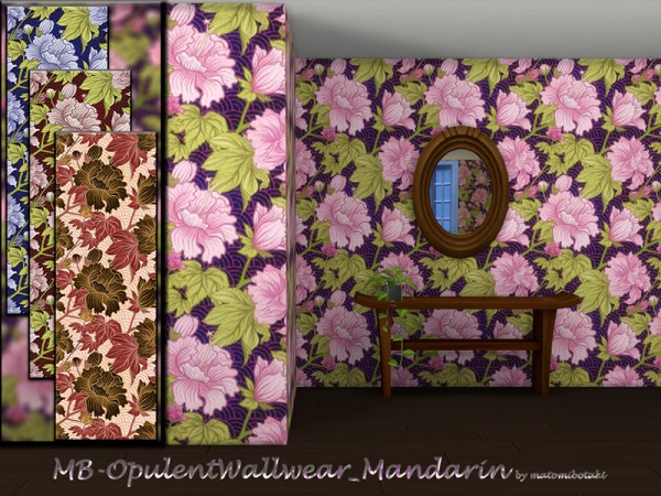 The Sims Resource: Opulent Wallwear Mandarin by matomibotaki