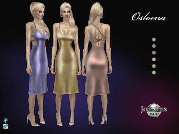 The Sims Resource: Osloena dress by jomsims