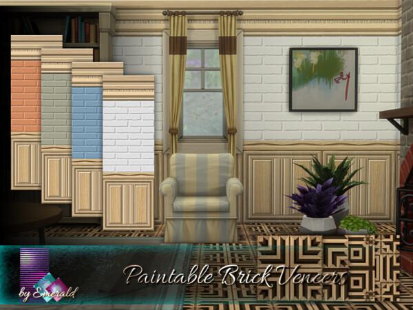 The Sims Resource: Paintable Brick Veneers by emerald