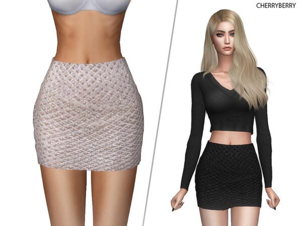 The Sims Resource: Pearl Miniskirt by CherryBerrySim