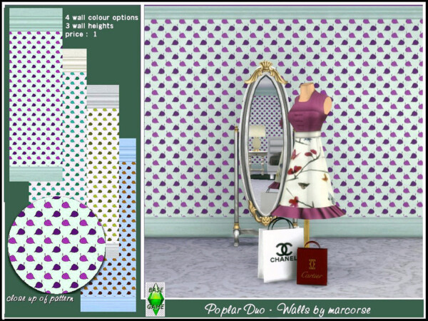 The Sims Resource: Poplar Duo   Walls by marcorse
