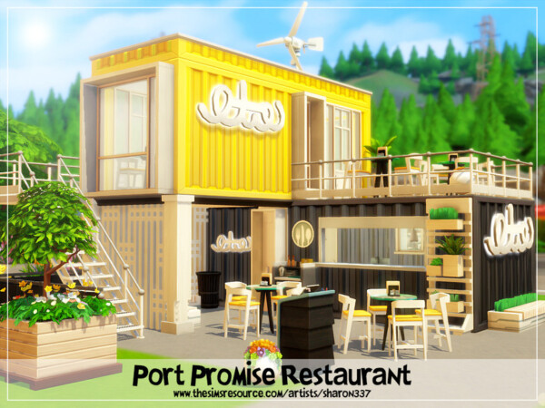 The Sims Resource: Port Promise Restaurant   No CC by sharon337