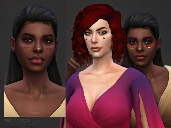 The Sims Resource: Pride tattoos by sugar owl