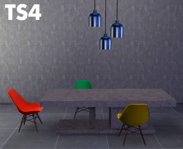 Riekus13: Mason marble table, Vitra chair and Wondymoon's Sulfur lamp RC