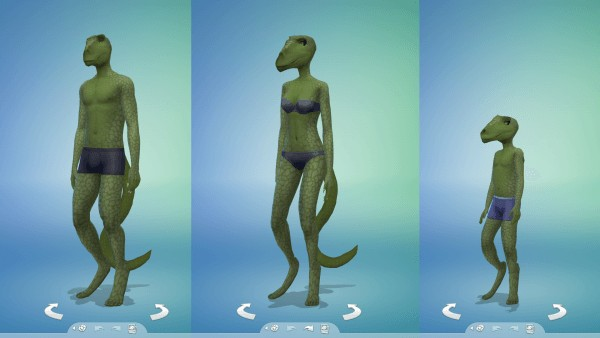 Mod The Sims: Reptilian Body, Head, and Teeth by tklarenbeek