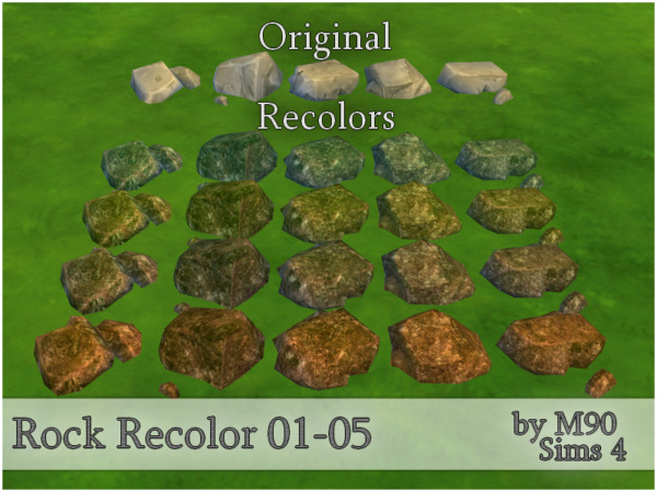 The Sims Resource: Rock Recolor by Mircia90