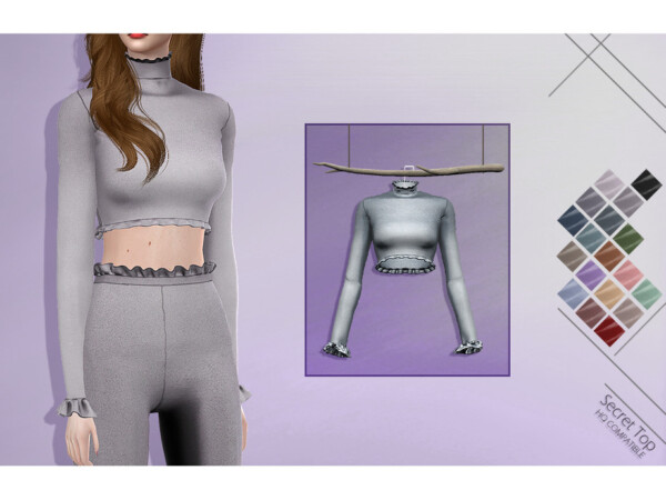 The Sims Resource: Secret Top by Lisaminicatsims