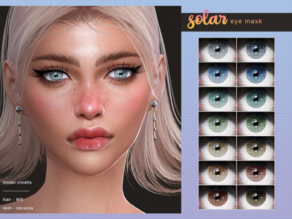 The Sims Resource: Solar Eye Mask by Screaming Mustard
