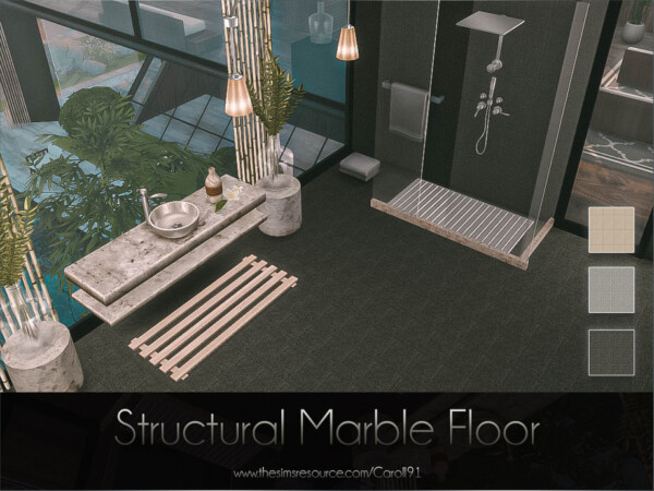 The Sims Resource: Structural Marble Floor by Caroll91