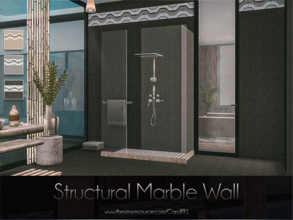 The Sims Resource: Structural Marble Wall by Caroll91