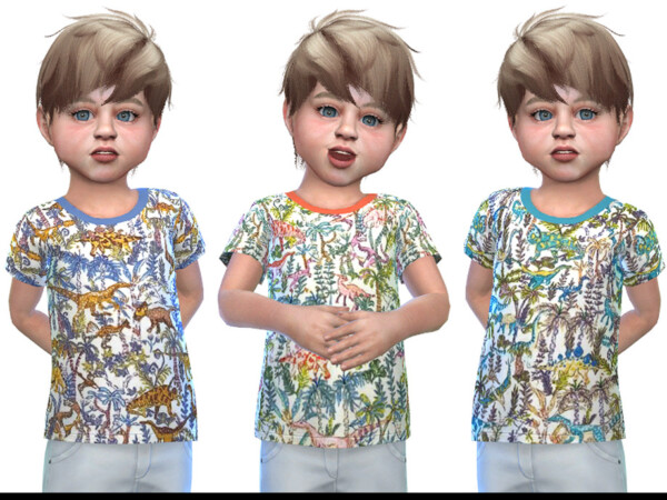 The Sims Resource: T shirt for Toddler Boys 02 by Little Things