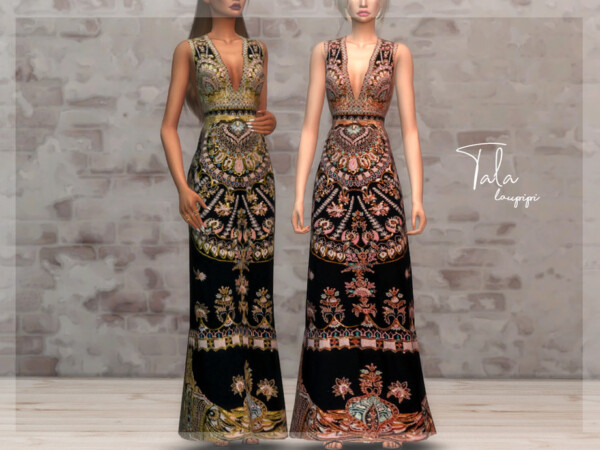 The Sims Resource: Tala Dress by laupipi
