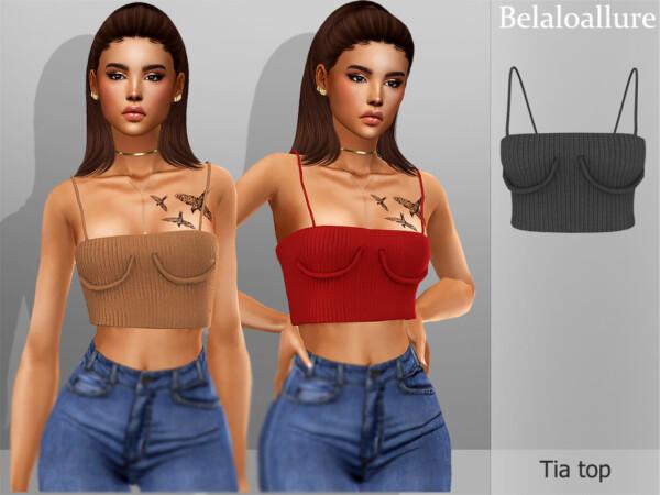 The Sims Resource: Belaloallure Tia top by belal1997