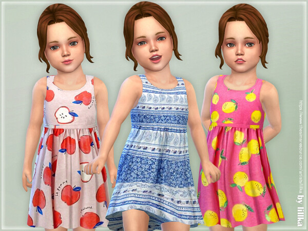 The Sims Resource: Toddler Dresses Collection P144 by lillka