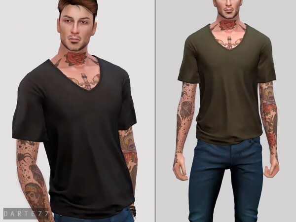 The Sims Resource: V Neck T Shirt by Darte77
