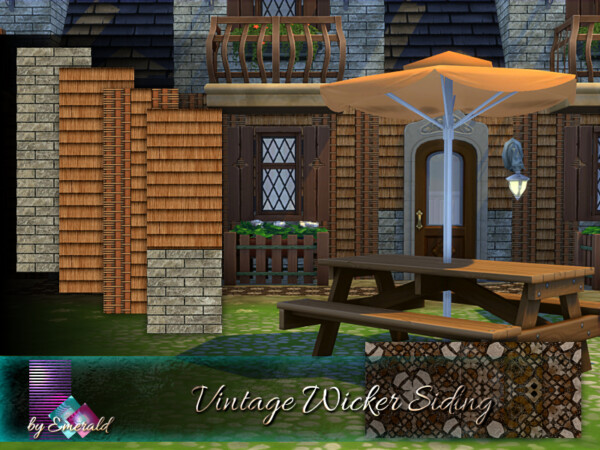 The Sims Resource: Vintage Wicker Siding by emerald