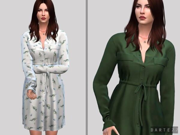 The Sims Resource: Waist Shirt Dress by Darte77