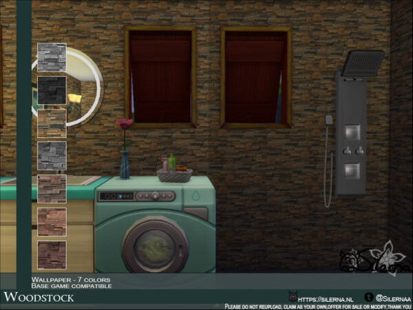 The Sims Resource: Woodstock Walls by Silerna