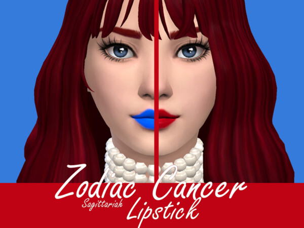 The Sims Resource: Zodiac Cancer Lipstick by Sagittariah