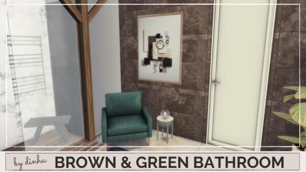 Dinha Gamer: Brown and Green Bathromm