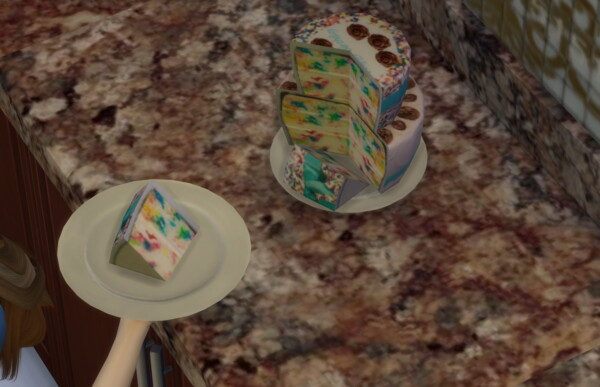 Baby Girl And Baby Boy Confetti Cakes by Laurenbell2016 from Mod The Sims