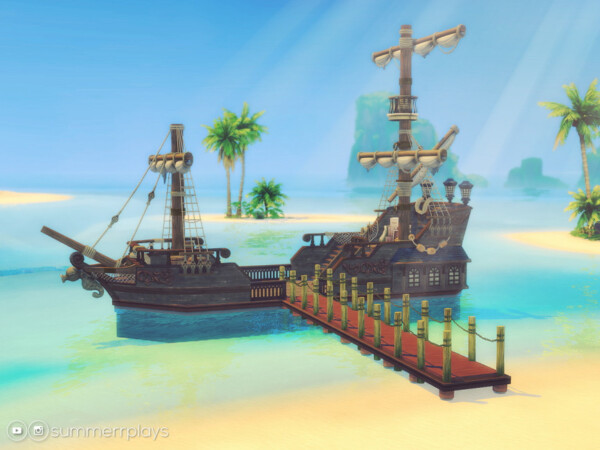 The Sims Resource: Santa Maria Pirate Ship by Summerr Plays