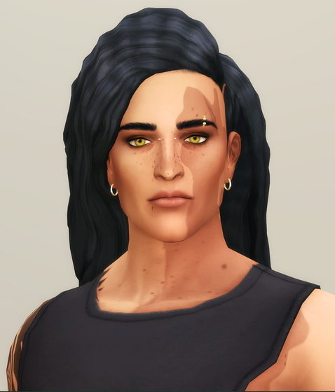 Crimped M V2 Hairstyle Longer Retextured from Rusty Nail